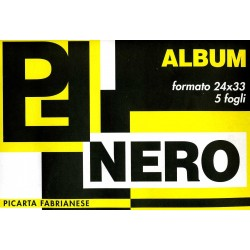 Album Disegno Nero 24 x 33 5 fogli