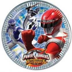 Piatto Piccolo Power Rangers Cm 20 Pz 8