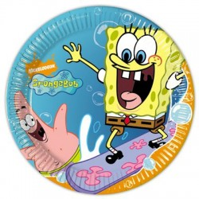 Piatto Piccolo Spongebob 20 cm pz.10