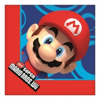 Tovaglioli 16 pz Super Mario Bros
