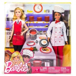 Barbie Chef + Barbie Set 2 Pezzi